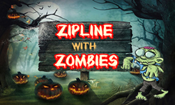 zipline with the zombies